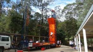 Climbing wall rock climbing Brisbane camp