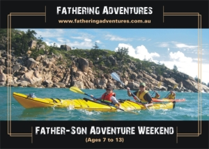 Sea kayak Queensland Father son weekend