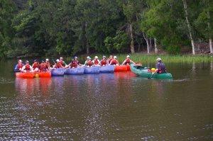 School camp, canoe lake, Queensland, Sunshine Coast