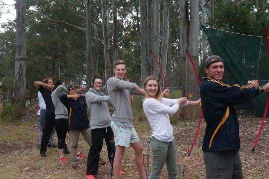 Tamborine and Vertec Staff enjoying an archery session