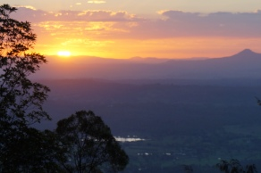 Sunset from the lookout at QCCC Tamborine